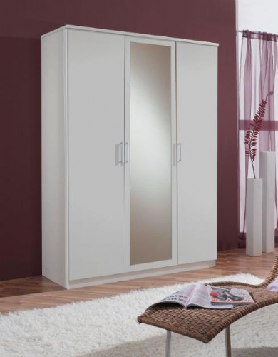 Venice Alpine White 3 Door Wardrobe - 2389